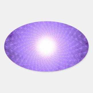 Sahasrara - The Thousand-Petalled Lotus Oval Sticker