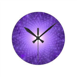 Sahasrara - The Thousand-Petalled Lotus Round Clock