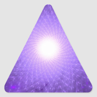 Sahasrara - The Thousand-Petalled Lotus Triangle Sticker