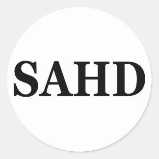 Sahd Round Stickers