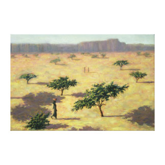 Sahelian Landscape Mali 1991 Canvas Print