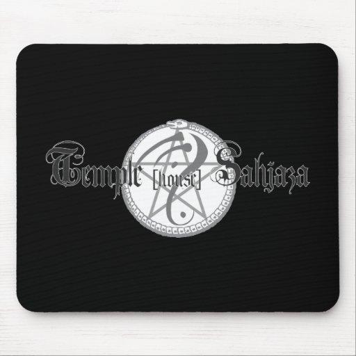 Sahjaza logo black mousepad