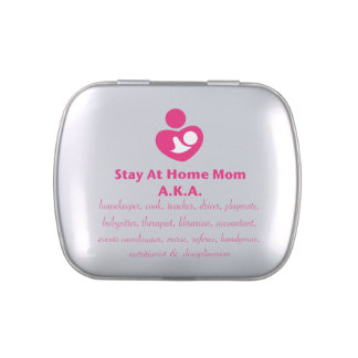 SAHM Heart Jelly Belly Candy Tins