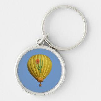 Sahuaro Sunrise Hot Air Balloon Keychain