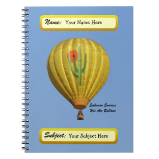 Sahuaro Sunrise Hot Air Balloon Notebook