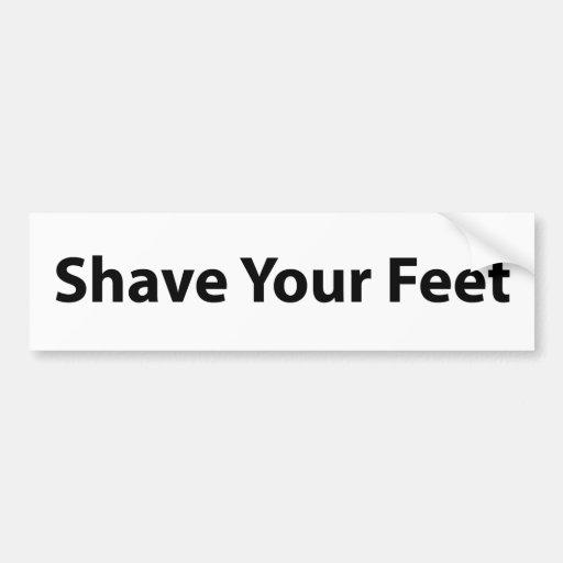 Sahve Your Feet Bumper Sticker