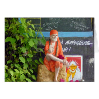 Sai Baba at the Auto Stand Greeting Cards