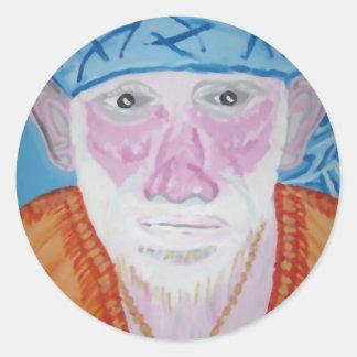 SAI BABA of Sirdi Monk Master Guru Yogi Blessing Classic Round Sticker