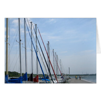Saiboats at Bellport Dock, Bellport, NY Card