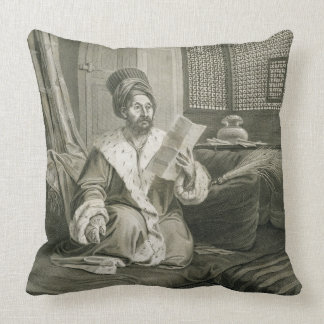 Said Mustapha Pasha Wounded at the Battle of Abouk Throw Pillow
