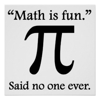 Said No One Ever: Math Is Fun Poster