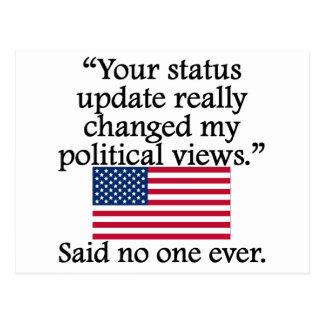 Said No One Ever: Status Update Postcard