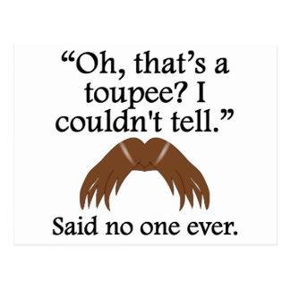 Said No One Ever Toupee Postcard