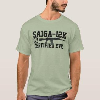 Saiga 12 - Certified Evil Checklist T-Shirt