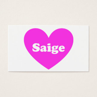 Saige Business Card