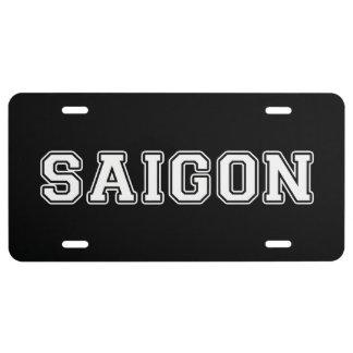 Saigon License Plate