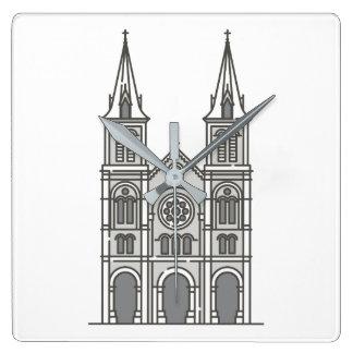 Saigon Notre Dame Basilica World landmarks Square Wall Clock