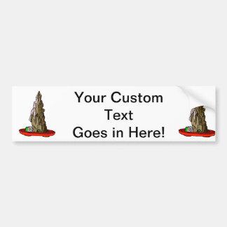 Saikei Cliff in Red Pot Bonsai Graphic Bumper Sticker