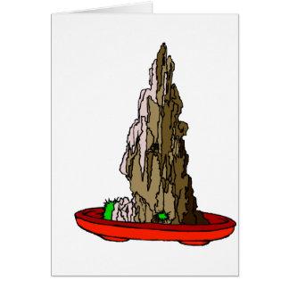 Saikei Cliff in Red Pot Bonsai Graphic Card
