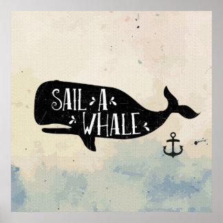 Sail a Whale Poster