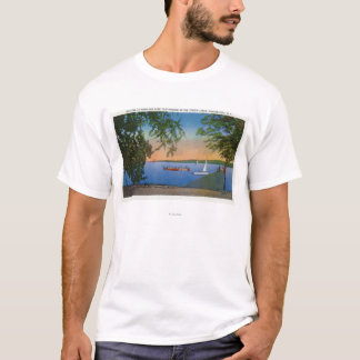 Sail and Motor Boats at Roseland Park Scene T-Shirt