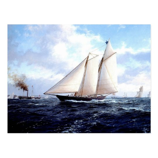 Sail and steam together postcard