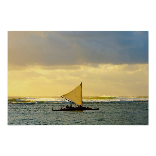 Sail and Surf at Sunset Posters