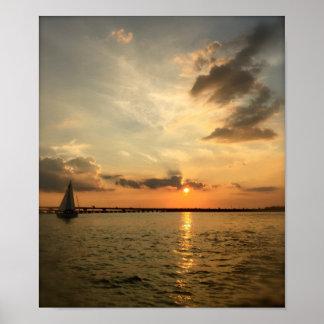 Sail at Sunset Poster