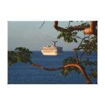 Sail Away at Sunset I Cruise Vacation Photography Canvas Print