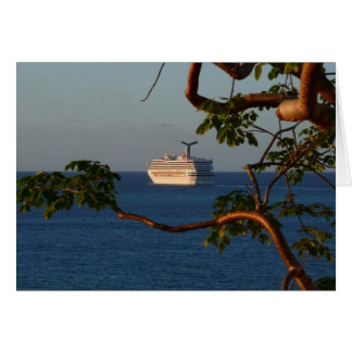 Sail Away at Sunset I Cruise Vacation Photography Card