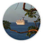 Sail Away at Sunset I Cruise Vacation Photography Ceramic Knob