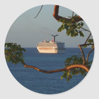 Sail Away at Sunset I Cruise Vacation Photography Classic Round Sticker