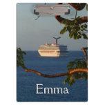 Sail Away at Sunset I Cruise Vacation Photography Clipboard