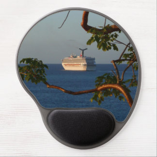 Sail Away at Sunset I Cruise Vacation Photography Gel Mouse Pad