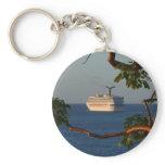 Sail Away at Sunset I Cruise Vacation Photography Keychain
