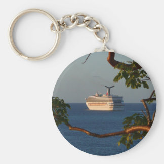 Sail Away at Sunset I Cruise Vacation Photography Keychain