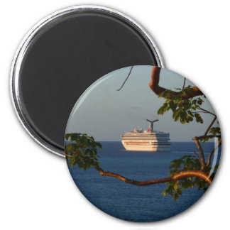 Sail Away at Sunset I Cruise Vacation Photography Magnet