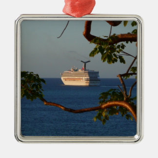 Sail Away at Sunset I Cruise Vacation Photography Metal Ornament