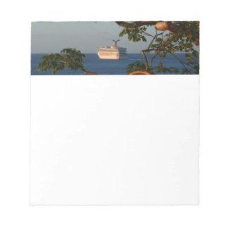 Sail Away at Sunset I Cruise Vacation Photography Note Pad