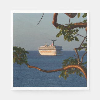 Sail Away at Sunset I Cruise Vacation Photography Paper Napkin