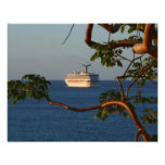 Sail Away at Sunset I Cruise Vacation Photography Photo Print