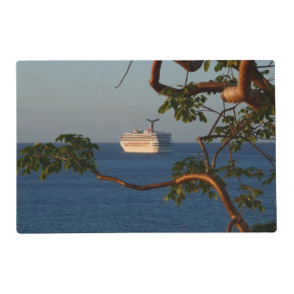 Sail Away at Sunset I Cruise Vacation Photography Placemat