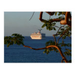 Sail Away at Sunset I Cruise Vacation Photography Postcard