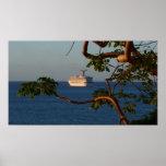 Sail Away at Sunset I Cruise Vacation Photography Poster