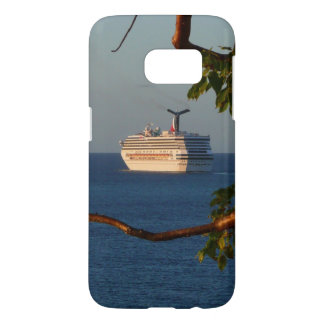 Sail Away at Sunset I Cruise Vacation Photography Samsung Galaxy S7 Case
