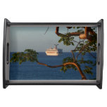 Sail Away at Sunset I Cruise Vacation Photography Serving Tray