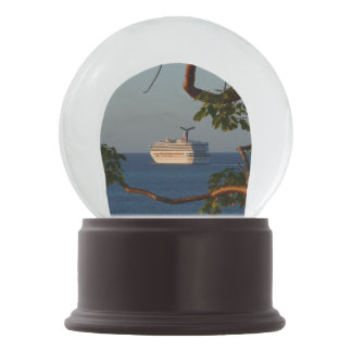Sail Away at Sunset I Cruise Vacation Photography Snow Globe