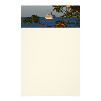 Sail Away at Sunset I Cruise Vacation Photography Stationery