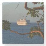 Sail Away at Sunset I Cruise Vacation Photography Stone Coaster