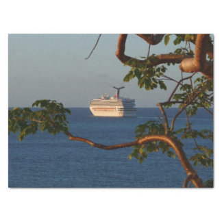 Sail Away at Sunset I Cruise Vacation Photography Tissue Paper